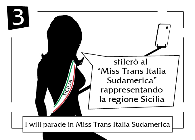I will parade in miss trans italia sudamerica